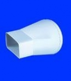 Flat - round adapter  110x55x100mm